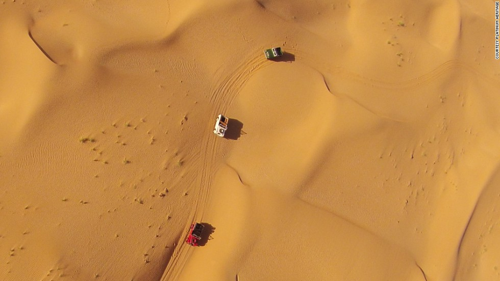 Crossing the deserts of Dubai in vintage Land Rovers offers insight into the traditional world of the Bedouin.