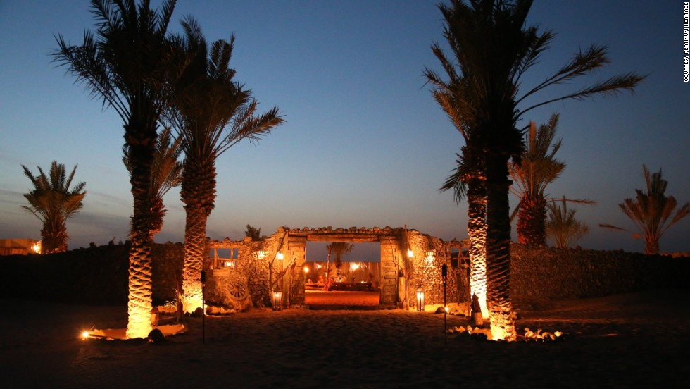The Platinum Heritage Bedouin camp offers luxury, far from the glass and steel modernity of downtown Dubai.