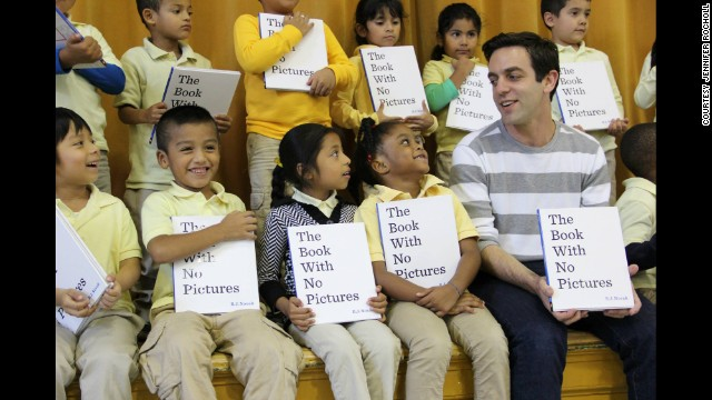 "Actor B.J. Novak (right), who is best known for his role as Ryan Howard in ""The Office,"" has written a hit children's book."