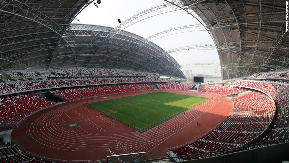 """I don't think anyone had really designed a successful stadium for the tropics before,"" said architect Clive Lewis of Arup Assocites. ""In the past, if they had a tropical rainstorm they pretty much had to cancel the event. And that's where the dome roof concept came from."""