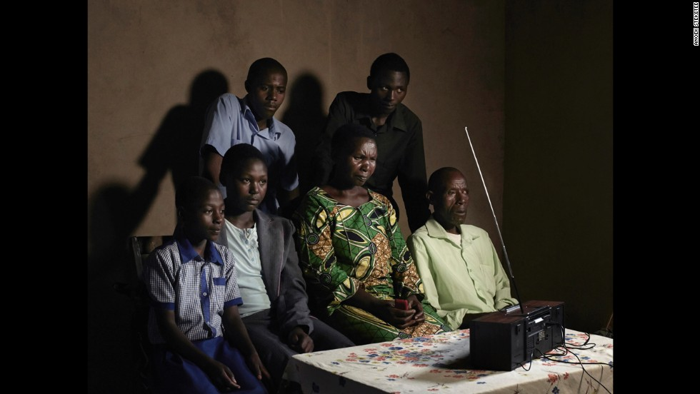 "A family listens to the radio in Rwanda. A popular soap opera called ""Musekeweya,"" or ""New Dawn,"" is conveying a message of healing and reconciliation in the country, where more than 800,000 people were massacred two decades ago."
