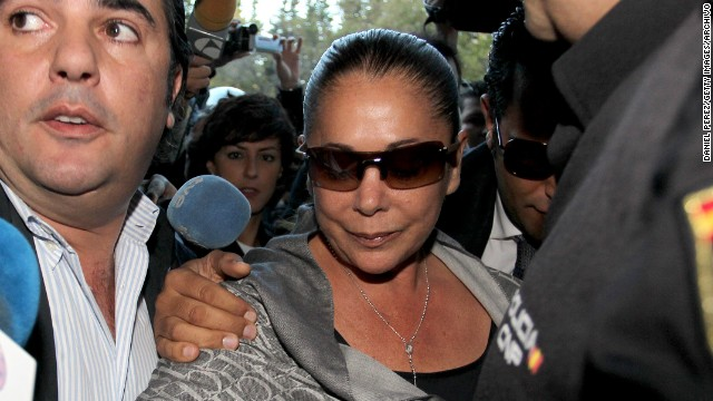 MALAGA, SPAIN - OCTOBER 14: Spanish singer Isabel Pantoja attends the trial of the 'Malaya' case on October 14, 2010 in Malaga, Spain. Almost 100 people went on trial in southern Spain in a major corruption scandal that led to the dissolution of the town council in the glitzy resort of Marbella. The scandal, which broke in March 2006, centred on the alleged payment of millions of euros (dollars) in bribes to city officials by property developers in return for planning permission. (Photo by Daniel Perez/Getty Images)
