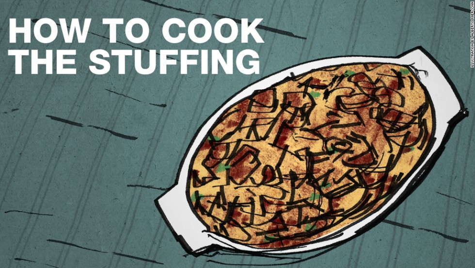 "<strong>Some say:</strong> You cook the stuffing (<a href=""http://eatocracy.cnn.com/2010/11/23/lunchtime-poll-the-stuffing-kerfuffle/"">some crazy folks call it dressing</a>) inside the turkey, where the juices add more flavor. That's why it's called stuffing. <strong>No, thanks:</strong> Roasting it separately improves air circulation in the turkey, letting it cook more evenly. And stuffing in a turkey is at risk for being undercooked. We'd rather not poison our guests, thank you."