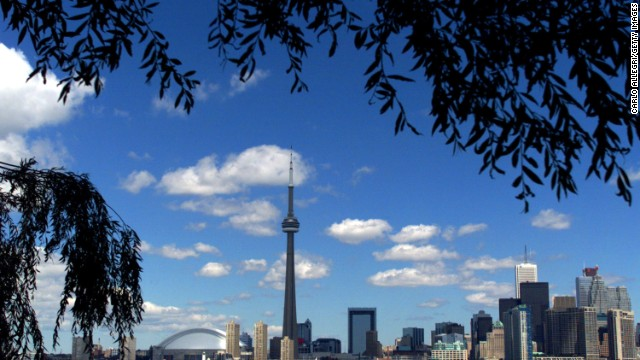 he CN Tower and the Skydome highlight the Toronto skyline in his undated file photo. The International Olympic Committee (IOC) meets in Moscow July 13, 2001 to decide between front runners Beijing, Paris and Toronto for the site of the 2008 summer Olympics.