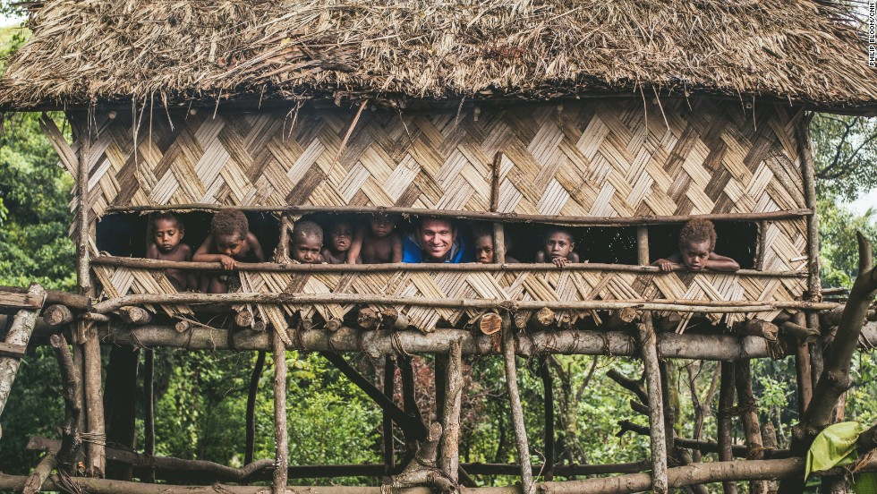 Bill Weir is cooped up in a Yakel Village treehouse with the children on the island of Tanna, Vanuatu.