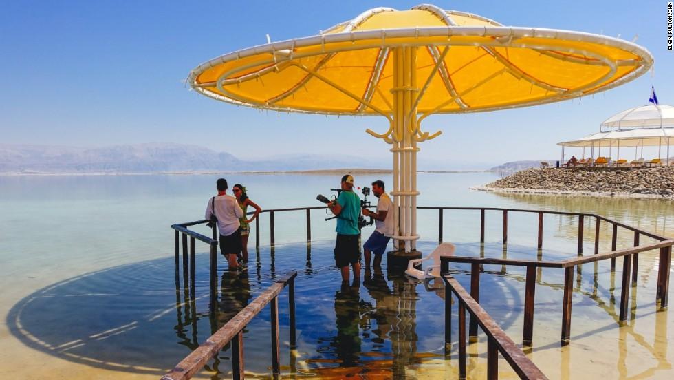 Vitiligo patient Mirela Sladic is at the DMZ Medical Spa in Ein Bokek, along the shores of the Dead Sea evaporation ponds in Israel.