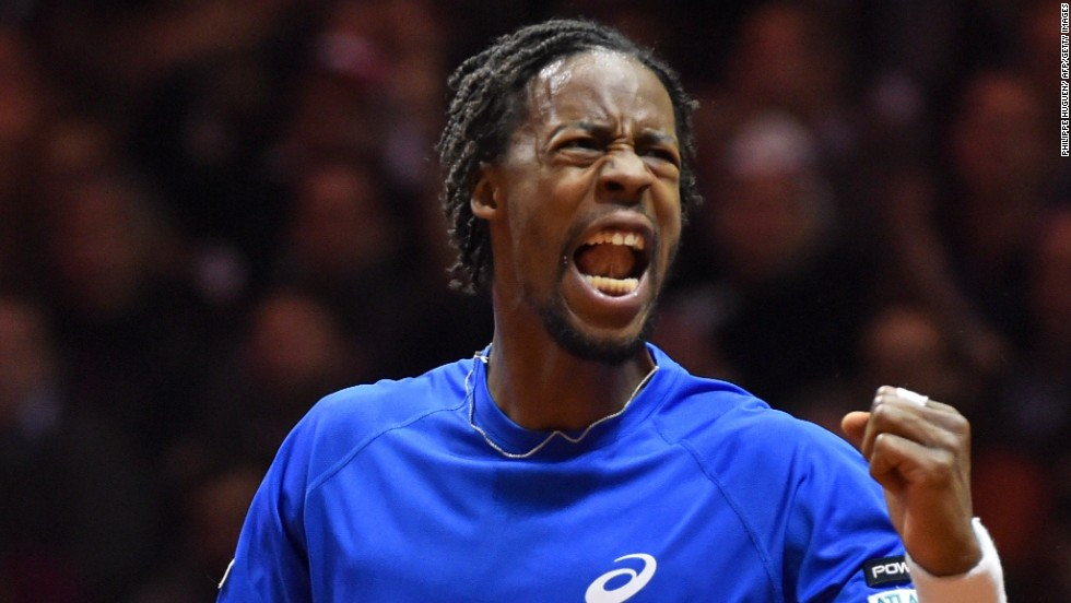 Monfils was in inspired form to draw France level in the Davis Cup final by beating Federer.