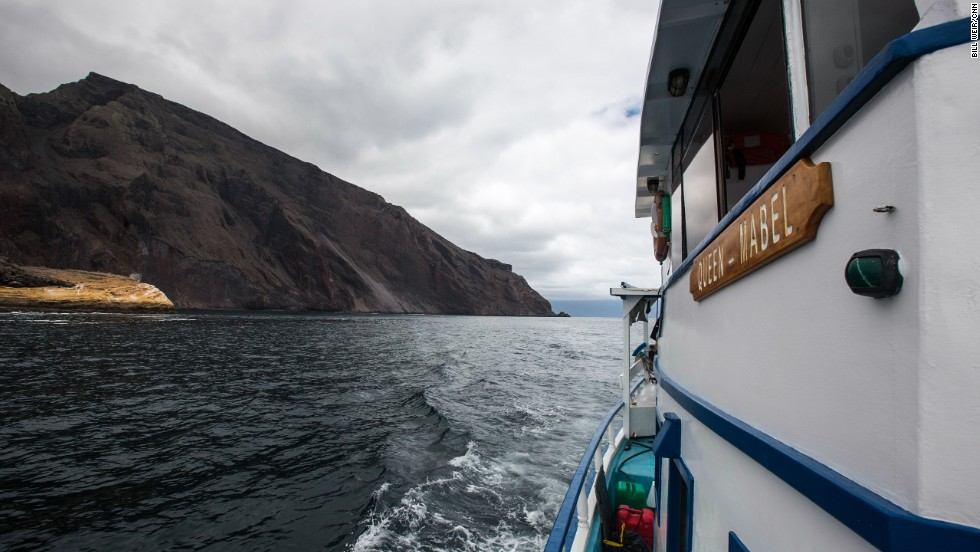 "The crew's Galapagos ""chariot"" is the expedition vessel ""The Queen Mabel."""