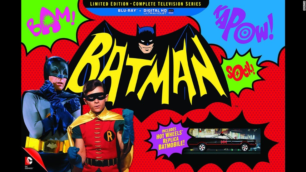 "<strong>For the Bat-fan:</strong> Modern superhero watchers much prefer the Frank Miller ""Dark Knight"" version of Batman, but there's something to be said about the campy color of<a href=""http://www.cnn.com/2014/11/11/showbiz/batman-blu-ray-best/index.html""> the 1966 TV series starring Adam West and Burt Ward</a>. It was a phenomenon while it lasted -- which wasn't long -- and is finally available in a deluxe DVD package. ($269.97)"