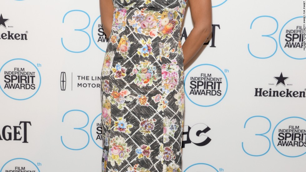 Rosario Dawson arrives at the 30th annual Film Independent Spirit Awards nominations announcement on November 25.