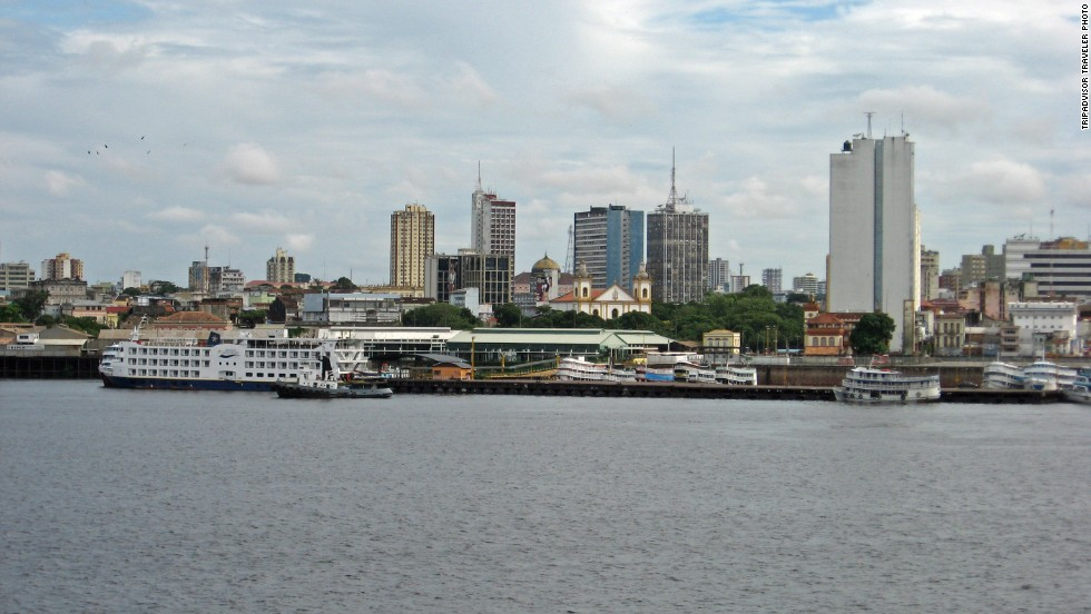 """<strong>9. Manaus, Brazil:</strong> There's more to this city in the middle of the Amazon than its star turn as recent soccer host city. A TripAdvisor reviewer suggests a tour of the Teatro Amazonas to """"get a real sense of the grandeur of the old opera."""" Another recommends the signature Tambaqui ribs at Banzeiro."""