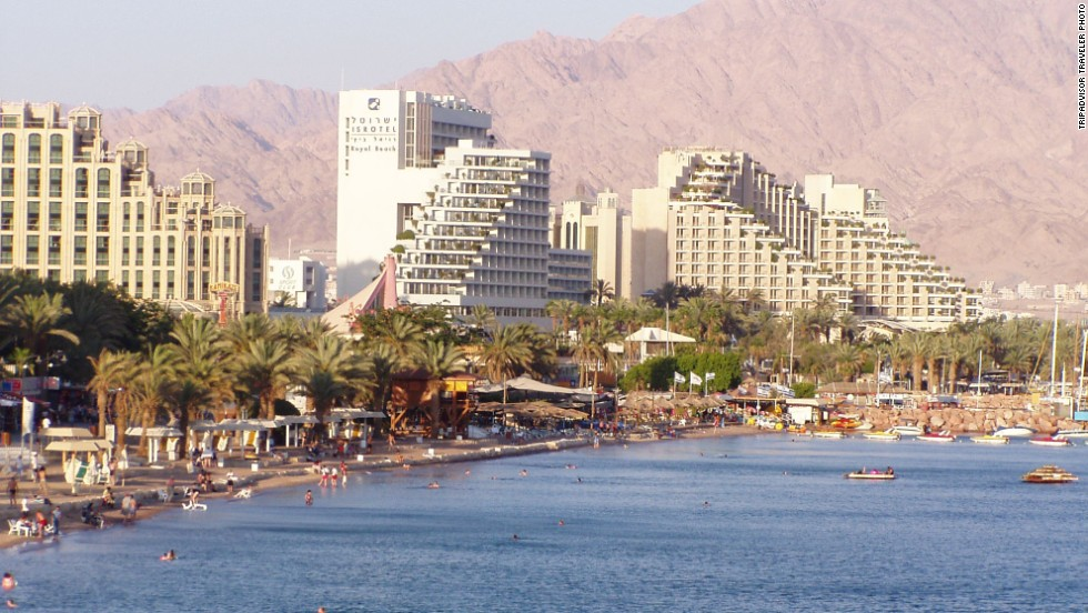 """<strong>10. Eilat, Israel:</strong> Israel's southernmost city in the Gulf of Aqaba offers almost year-round sunshine and the stunning national Timna Park, which one TripAdvisor reviewer describes as """"a rocky desert, with magnificent views of red and pink rocks."""" Snorkeling at the Coral Beach Nature Reserve is also recommended."""