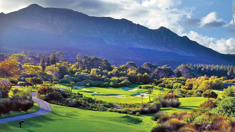Steenberg Golf Club in Cape Town has the largest green in Africa -- a 76-meter beast on the 14th hole with a hazard designed to resemble the mountains in the background.