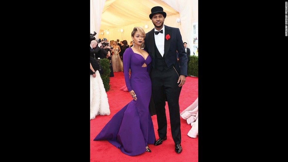 It was Greenfield who convinced basketball star Carmelo Anthony (seen here with his wife) to wear tails to the 2014 Costume Institute Gala at the Metropolitan Museum of Art.