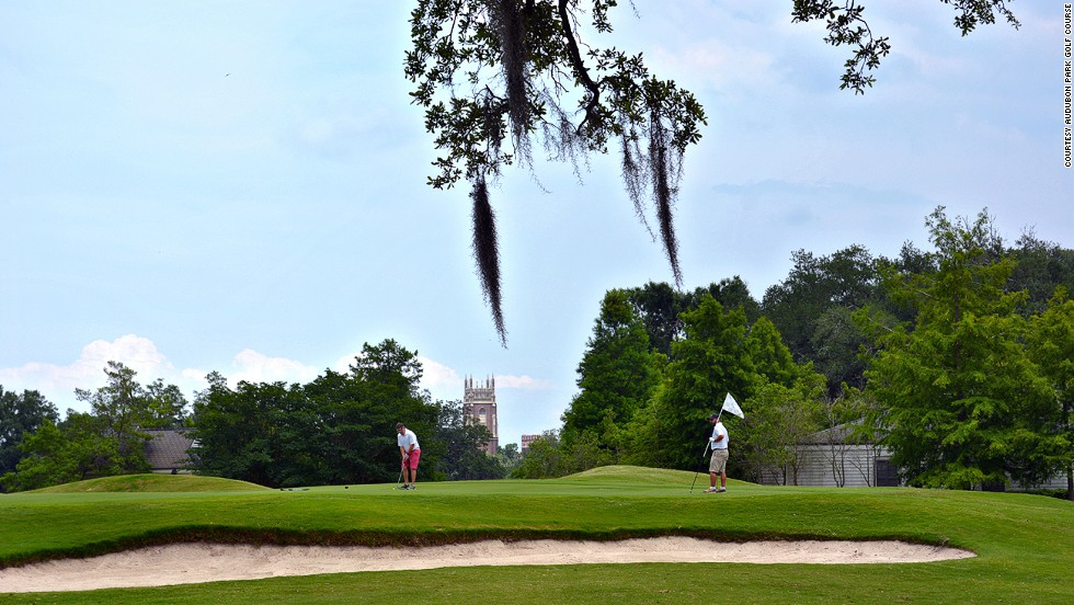 New Orleans' 18-hole Audubon Park Golf Course opened in 1898 and can be accessed via streetcar.