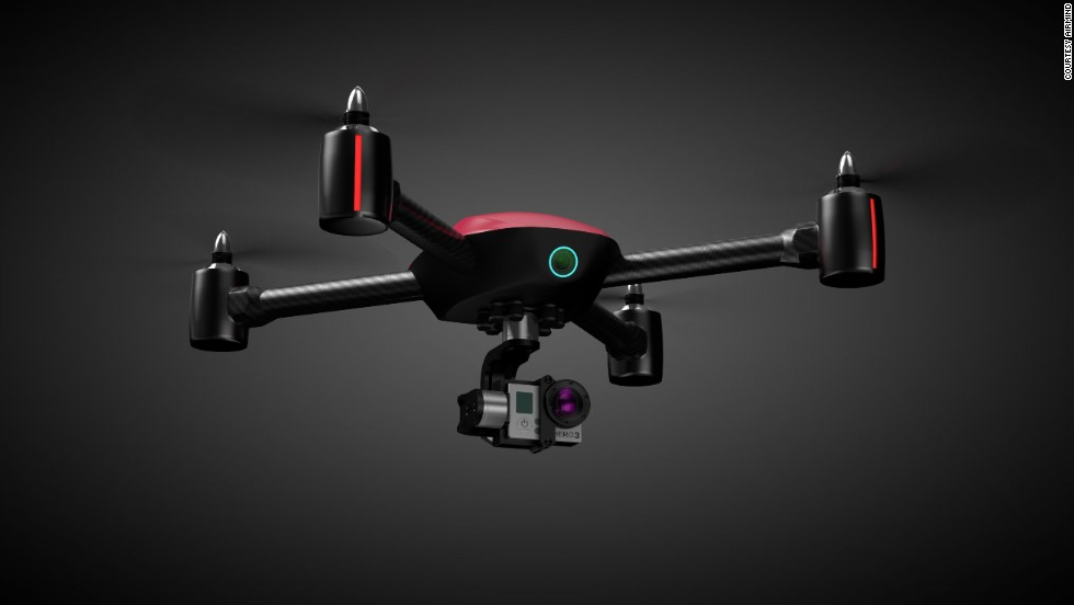 An image of the Mind4 drone, which makers AirMind say can follow selected targets and take photos of them. AirMind are currently crowdfunding $100,000 on Kickstarter to get the device to the next stage of development.
