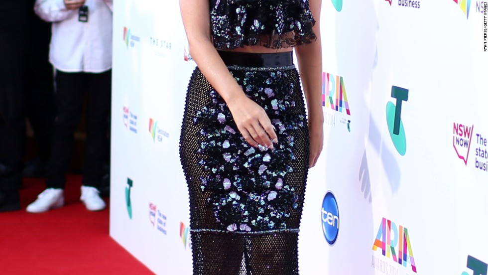 Katy Perry cracks up on the carpet of the ARIA Awards in Australia on November 26.