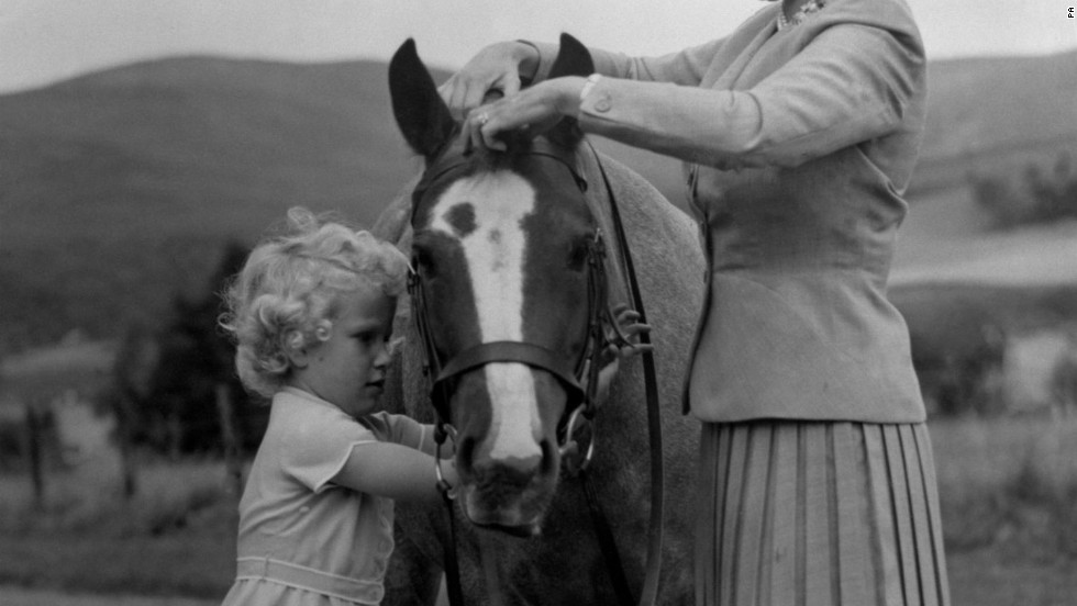 The young Queen is pictured in this photograph at Balmoral in 1955.