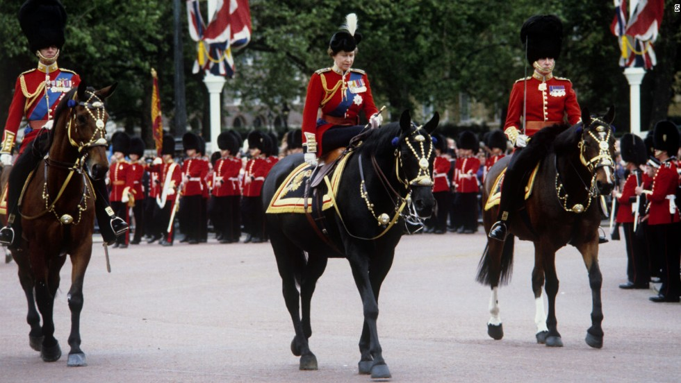 Burmese and the Queen were a fixture until 1986, when the mare made her last appearance at the Trooping the Color ceremony and was retired.