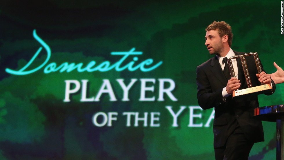 Hughes was named Australia's Domestic Player of the Year in 2013.