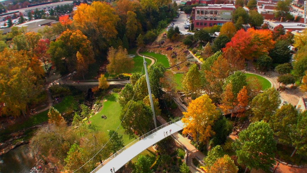 "7. Nestled in the foothills of the Blue Ridge Mountains, Greenville, South Carolina, offers a downtown arts scene that includes museums and public art (including the ""Mice on Main"" sculptures). Enjoy the town's bicycle sharing program to explore local trails or strap on hiking boots to trek the nearby mountains."