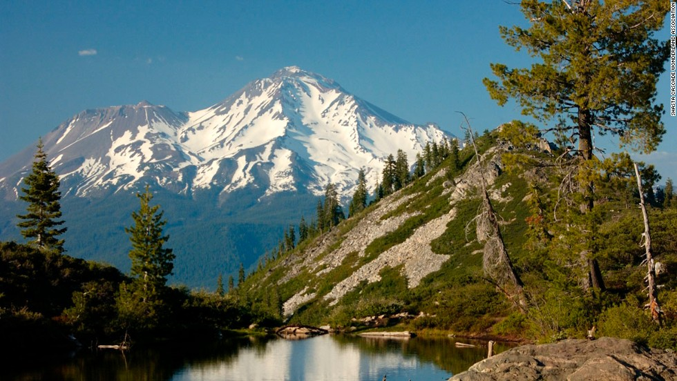 "10. California's Mount Shasta region is positively spiritual. Many Native Americans from the area see it as the center of creation. Naturalist John Muir was moved by his first sight of the snowy Mount Shasta volcano, saying famously that ""all my blood turned to wine, and I have not been weary since."" Climbing Mount Shasta's summit is only for experienced hikers but there are trails for every level."