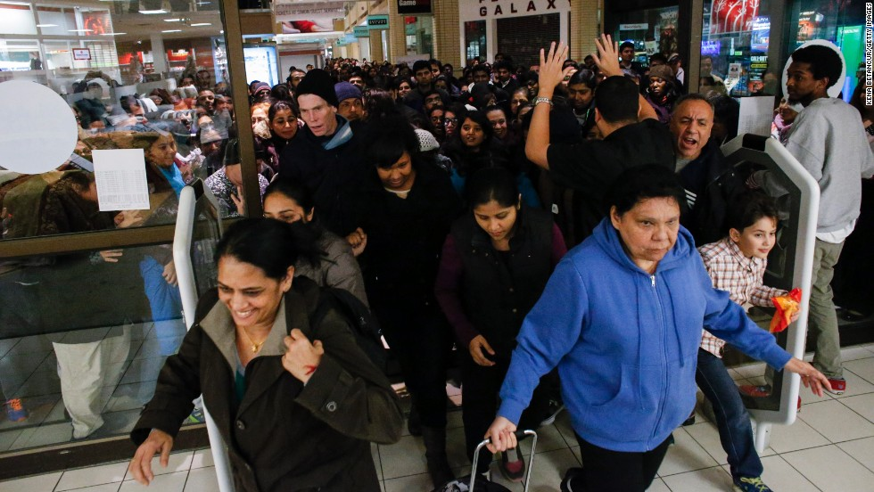 Black Friday sales at Newport Mall on November 27, 2014 in Jersey City , New Jersey, United States.