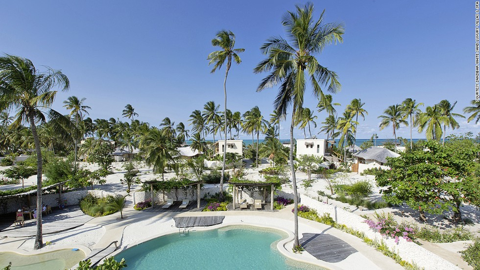 Zanzibar White Sand Luxury Villas and Spa is located on one of the best kite-surfing beaches in the world. Tanzania's latest beachfront hotel is powered by solar and wind energy.