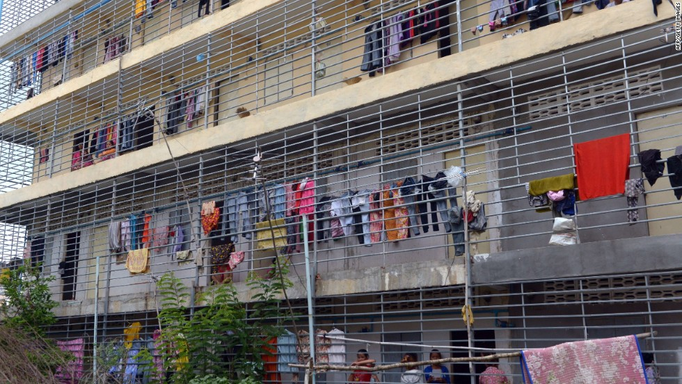 Garment workers' accommodation in Cambodia. Workers in the ASEAN region can now produce apparel at a fraction of the cost of China's eastern seaboard which traditionally drew its labor pool from the country's inland provinces.