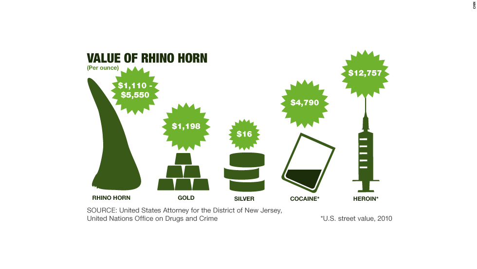 Value of rhino horn