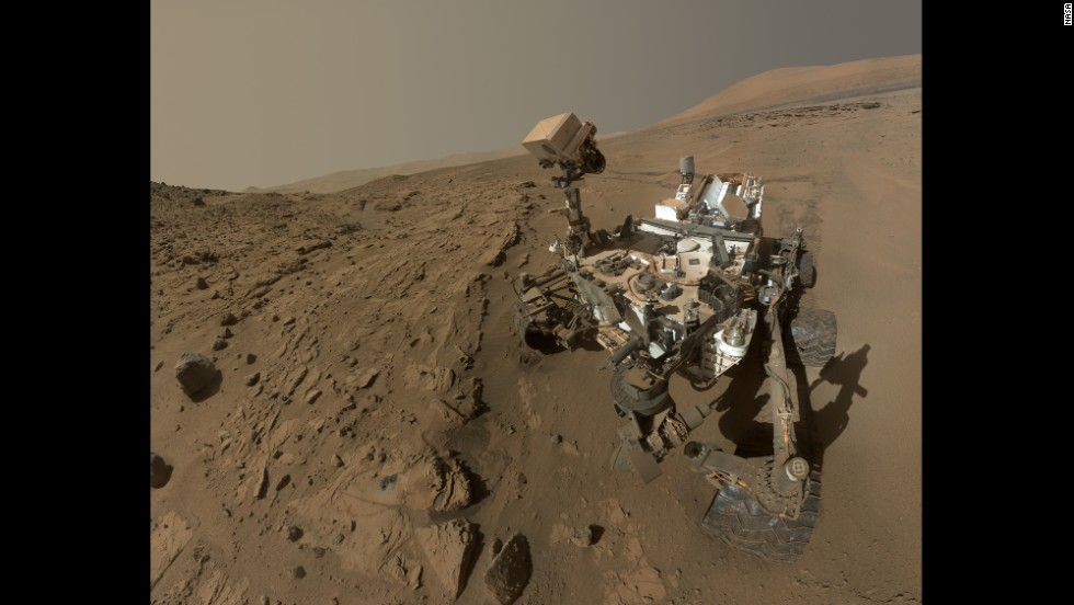 "<strong>June 24:</strong> NASA releases a selfie of the Mars rover Curiosity. The selfie, a composite of dozens of images captured in April and May, celebrated a full Martian year -- 687 days -- <a href=""http://www.cnn.com/2012/08/14/tech/gallery/mars-curiosity-rover/index.html"">since the rover's touchdown on the Red Planet.</a>"