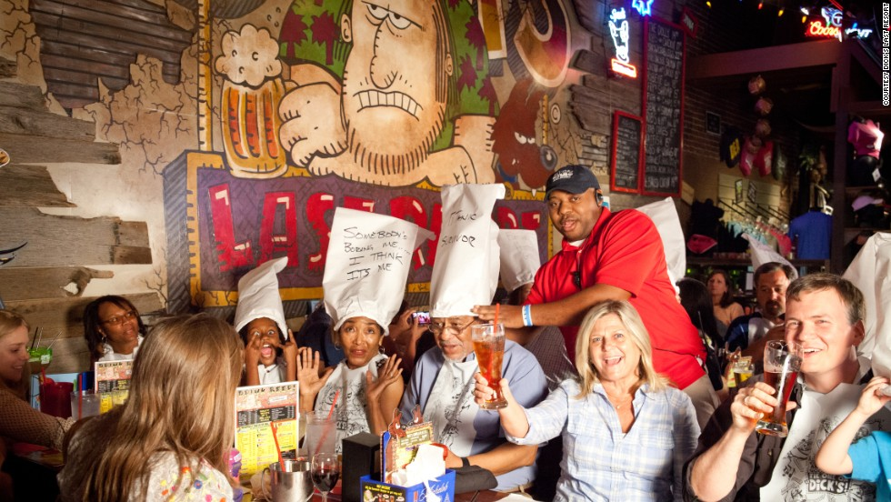 If you're feeling up for some heavy insults and sarcasm from your servers, Dick's Last Resort is the perfect place for an entertaining dinner.