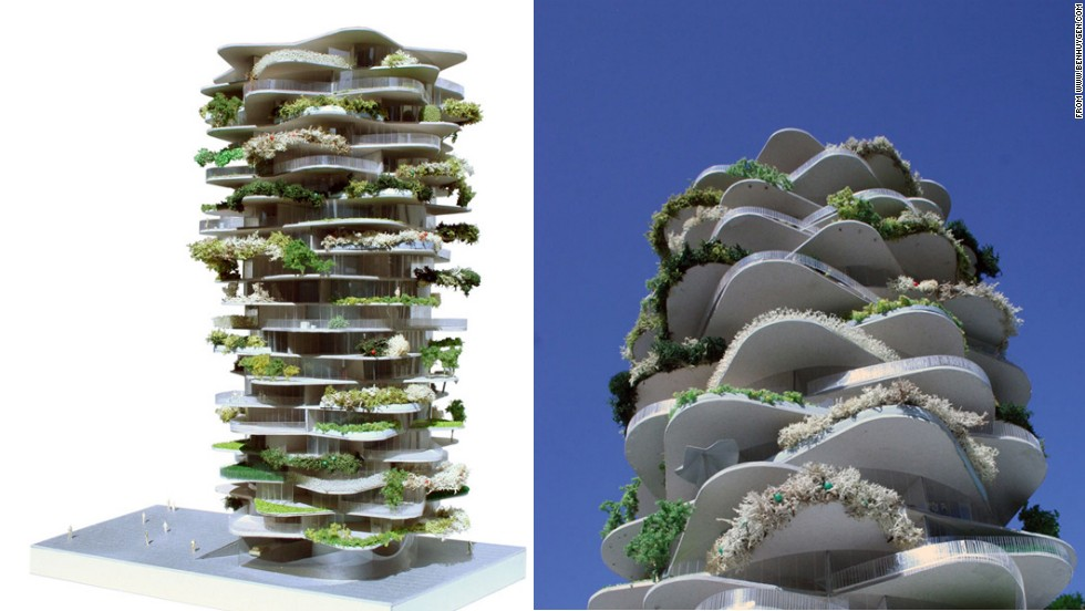 "Like a giant Jenga tower, the Cactus House was designed by <a href=""http://www.benhuygen.com/"" target=""_blank"">Ben Huygen</a> and Jasper Jaegers for the city of Amsterdam. Each level of the proposed housing project maximizes sunlight exposure to the balconies, encouraging greenery."