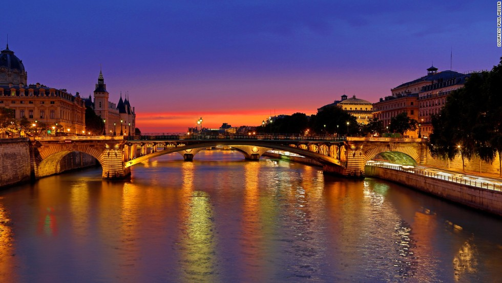 "Dusk settles over the river <a href=""http://ireport.cnn.com/docs/DOC-1173773"">Seine</a> in Paris, France, in this HDR shot."