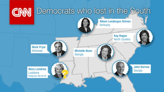 Southern Democrats who lost key races this election cycle