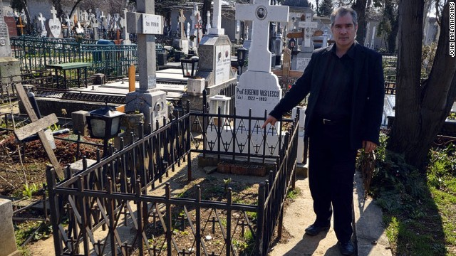 Grave concerns: Ceausescu's original burial plot lies vacant
