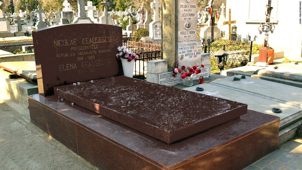 The remains of the Ceausescus were disinterred in 2010 and reburied at the request of their son Valentin.