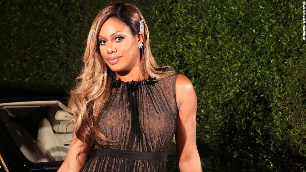 """Orange Is the New Black"" actress Laverne Cox attends an August 2014 event for Emmy nominees. Cox became the first openly transgender person to appear on the cover of Time magazine."