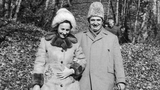 President Nicolae Ceausescu and his wife Elena were killed in 1989.