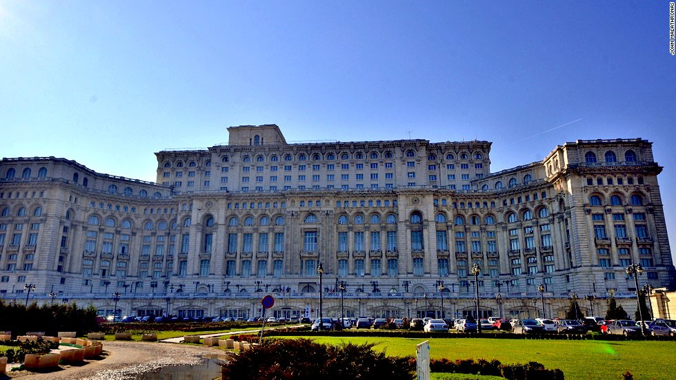 Bucharest's Parliamentary Palace, commissioned by former Romanian dictator Nicolae Ceausescu, is said to be the world's third biggest building by volume.