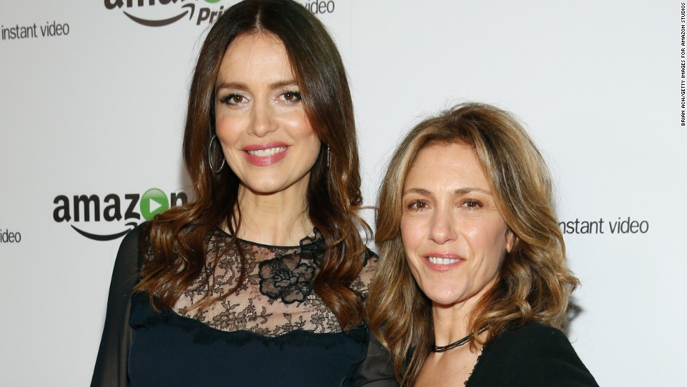 """Agents of S.H.I.E.L.D."" actress Saffron Burrows, left, revealed in an interview with <a href=""http://www.theguardian.com/tv-and-radio/2014/dec/01/saffron-burrows-married-to-alison-balian-mozart-in-the-jungle"" target=""_blank"">The Guardian</a> that she eloped with her longtime girlfriend, ""Ellen DeGeneres Show"" writer Alison Balian, in August 2014."