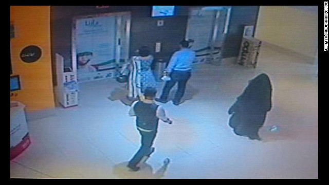 CCTV footage released by Abu Dhabi Police show the suspect at Boutik mall.