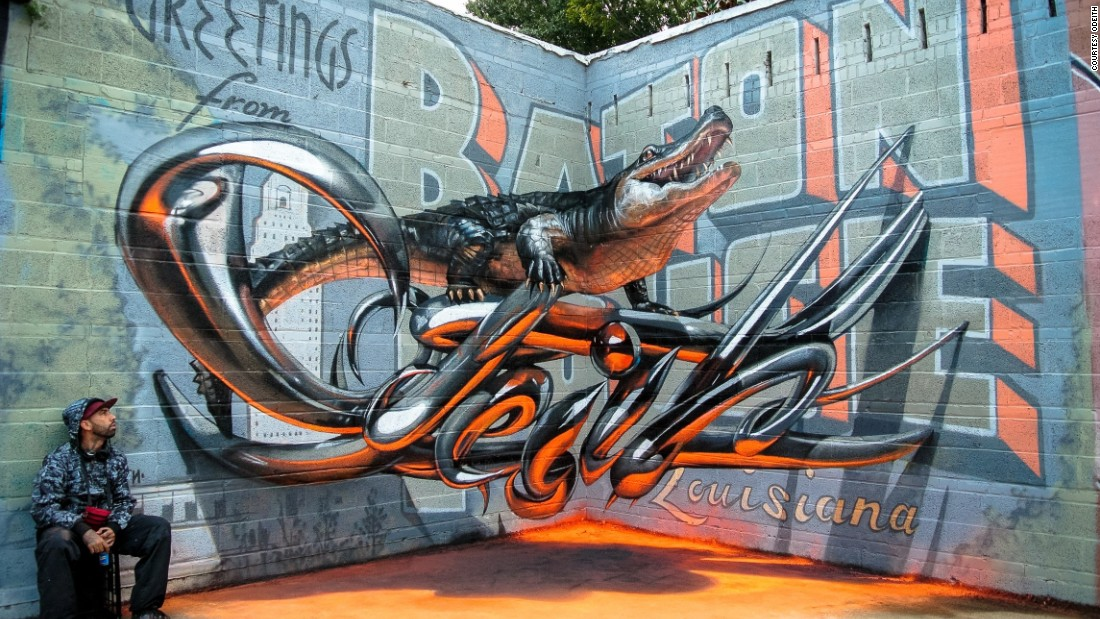 What's the secret behind these eye-popping street art illusions?