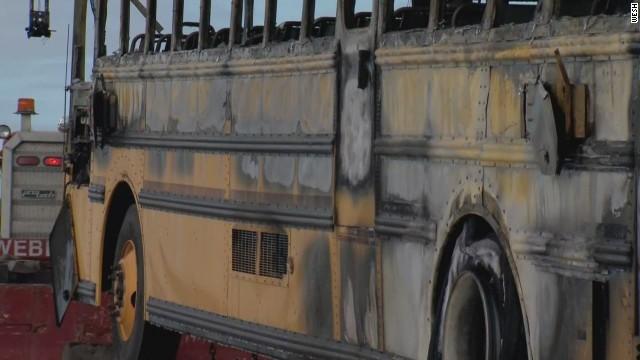 dnt driver saves schoolchildren from burning bus _00004315.jpg