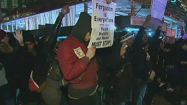 Protesters confront NYPD police