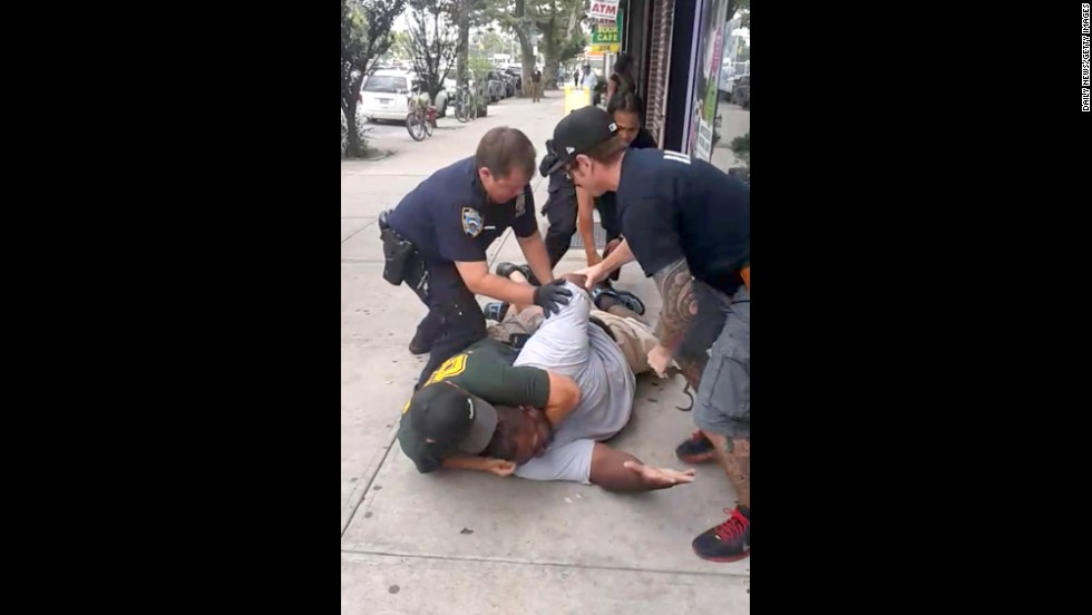 "<strong>July 17:</strong> A New York City police officer, Daniel Pantaleo, puts Eric Garner in a chokehold for allegedly selling cigarettes illegally. During the encounter, which was caught on video, Garner is heard telling police he could not breathe. Garner, a 43-year-old asthmatic, <a href=""http://www.cnn.com/2014/07/20/justice/ny-chokehold-death/index.html"">died en route to the hospital.</a> After a grand jury decided in December not to indict the police officer, <a href=""http://www.cnn.com/2014/12/04/us/gallery/eric-garner-protests/index.html"">protests erupted</a> in several major U.S. cities."