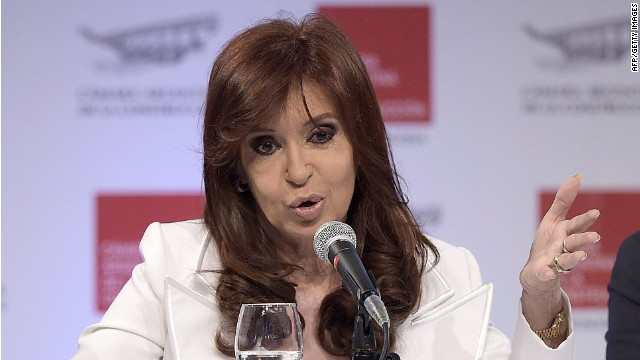 Argentine President Cristina Fernandez de Kirchner speaks during the 62th Annual Argentine Construction Association Convention in Buenos Aires on November 25, 2014. Fernandez has resumed her public agenda after resting for more than three weeks due to sigmoiditis (intestinal infection). AFP PHOTO / Juan MabromataJUAN MABROMATA/AFP/Getty Images