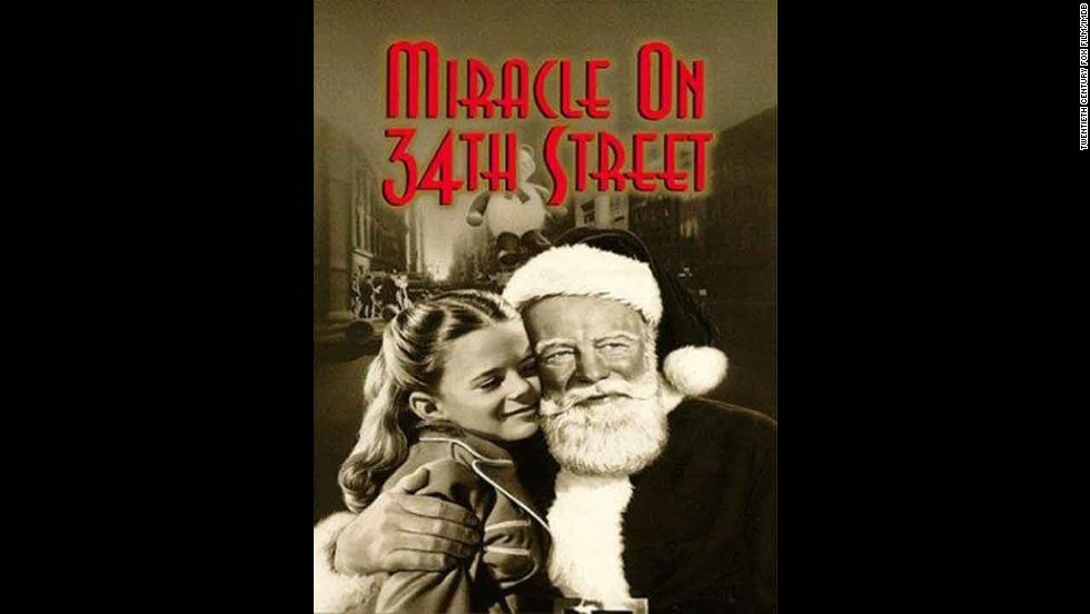 """Miracle on 34th Street"": After so many decades, this is still a mainstay each holiday season. (And that's even after a 1994 remake.) Starring Maureen O'Hara, John Payne and a young Natalie Wood, this story never loses its magic."