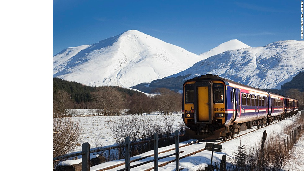 Sit back and relax to a stunning view of the Scottish countryside aboard a train with Rail Discoveries.
