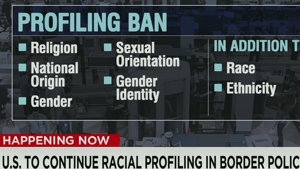 Profiling ban doesn't apply at borders